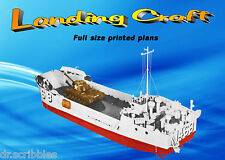 "Model WWII Boat Plans 1:48 Scale 30"" R/C Landing Craft Plans & Building Notes"