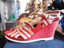 Chaussures vintage vintage véritables rouges pour femme Années 1970