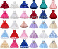 Flower Girl's Princess Dress Kid Baby Wedding Bridesmaid Formal Tutu Dresses