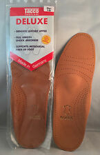 Tacco 694 Deluxe Leather Orthotic Arch Support Insole Men's Size 9 New