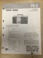 Sony Service Manual for the FH-3 Music Stereo System ~ Repair