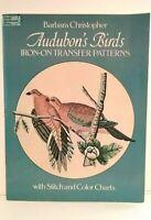 NEW Audubon's Birds Embroidery 24 Iron On Transfer Needlework Book