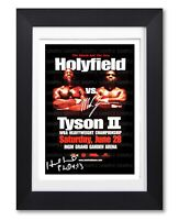 EVANDER HOLYFIELD VS MIKE TYSON II SIGNED POSTER PRINT PHOTO AUTOGRAPH GIFT