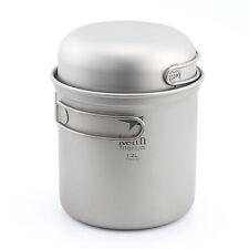 Keith Ti6051 Titanium Pot Outdoor Camping Ultralight Cookware 400+1200ml