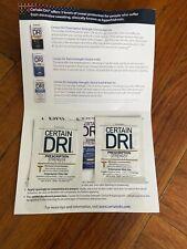 X2 Certain Dri Everyday Strength Clinical Antiperspirant + Deodorant Trial Pad