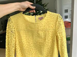 Phase Eight hübsches Frühlingskleid in frischem Gelb 36 neuwertig
