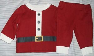CARTER'S RED*BLACK & WHITE 2 PIECE OUTFIT-SANTA SUIT-SIZE 6 MONTHS-NWT