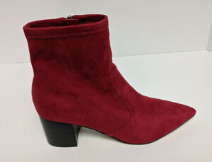 Marc Fisher Jerica Ankle Boots, Red, Women's 7 M