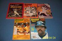 1970s Baseball Digest REGGIE Jackson Lot of 5 NEW YORK YANKEES No LABEL 1972