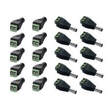 10Pcs Female Male Power Connector Adapter Plug 12V DC Jack Socket CCTV Led Strip