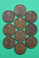 Lot of 10 1912 P Lincoln Wheat Cents Exact Coins Shown Flat Rate Shipping OCE531