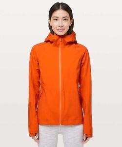 NWT Lululemon The Rain Is Calling Jacket II Atomic Orange | SIZE 8
