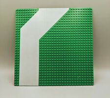 Vintage Green Lego 32x32 Road Baseplate Curved Runway part