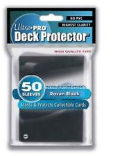 Ultra Pro 50 Pouches Deck Protector Sleeves Black Cards Standard 66x91mm 26697
