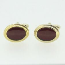 Gold Tone Anson Red Stone Cufflinks