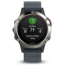 Garmin Fenix 5 Silver with Granite Blue Band GPS Multisport Watch - 010-01688-01
