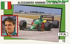 013 ALESSANDRO NANNINI BENETTON F1 STICKER SUPERSPORT 1988 PANINI RARE & NEW