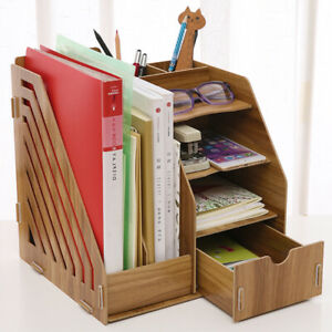 Collapsible Magazine File Holder Document Folder Desk Organizer Drawer Walunt