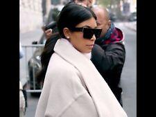 Sonnenbrille Eckig Schwarz Gold Kim Kardashian Neu