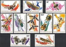Rwanda**INSECTS & BEETLES-10stamps-CRICKET-1973-LOCUST-MOTHS-Insekten-Insectes