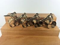 Vintage Lot of 4 Solid Brass Bird Head Napkin Rings Made in India