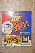Johnny Lightning Speed Racer 2000 Yellow Racer X Stock Car plus film cel art