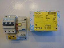 HAGER Réf BF326 + NF325 DISJONCTEUR DIFFERENTIEL 3P 25A 300mA TYPE AC 230V NEUF