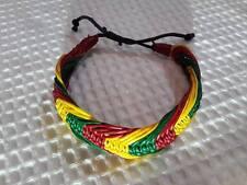 Crochet wristband hippie BRACELET bob marley jamaiga Rasta handmade Reggae BOHO