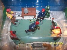 Lemax Christmas Village Hockey Scene on Skating Rink 1994 New in Foam Container