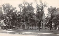 B43/ Sac City Iowa Ia Real Photo RPPC Postcard c1920 Court House