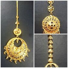 South Indian 22K Gold Plated Wedding Variations Different Maang Tikka Set