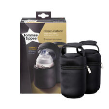 Tommee Tippee Closer To Nature Insulated Bottle Carriers Bags 2 Pack