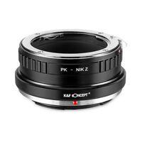 New K&F Concept adapter for Pentax K mount lens to Nikon Z6 Z7 camera