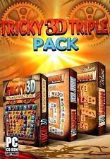 3D Mahjongg Deluxe, 3D Mahjong Jewel Edition, Tricky 3D PC Games Windows 10 8 7