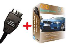 DIAGNOSE + SOFTWARE für BMW E60 E39 E46 E53 E87 bis 2007 INPA RHEINGOLD DIS