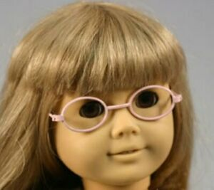 """New - Playdoll Pink Oval Frame Glasses #WD7021 - fits 18"""" American Girl Dolls"""