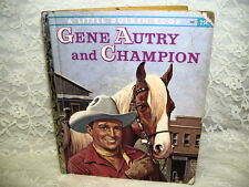 A Little Golden book Gene Autry and Champion by Monica Hill First Edition 1956