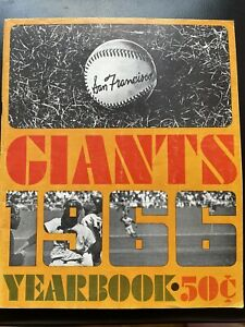 san francisco giants yearbook 1966 Willie Mays, McCovey, Marichel,