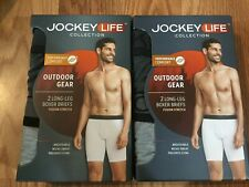 4-Pairs Jockey Life Collection Outdoor Gear Long Leg Boxer Briefs Medium M