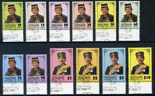 Brunei 1996 'Sultan Hassanal Bolkiah Waddaulah' set VFU. SG 563-574. Sc 504-515.