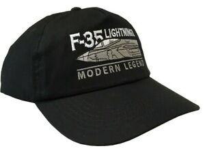 RAF F35 Lightning 11 Modern Fighter Aircraft Black Baseball Cap. (Adjustable).