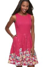 Apt 9 Size XL NWT Pink Floral Fit And Flare Sleeveless Dress