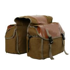 Bike Double Panniers Bag Canvas Bicycle Rear Seat Storage Trunk Bag Portable Bag