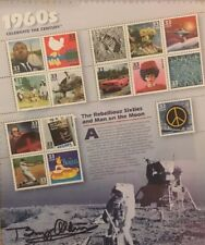 Nasa BUZZ ALDRIN APOLLO 11 ASTRONAUT SIGNED AUTO USPS STAMP COLLAGE FRAMED Rare!