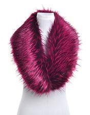 Ladies Fluffy Winter Faux Fur Grey Christmas Collar Scarf Shawl Wrap Stole