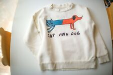 NEW WITH TAG 6T 7T  Bobo Choses Sweater sweatshirt Cat and Dog Luxury Designer