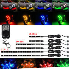 6pcs Motorcycle led lights Wireless Remote 18 color Neon Glow Light Strips Kit