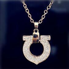 Fashion Heart Chain Pendant 18K Gold Plated Swarovski Crystal Necklace
