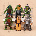6Pcs Teenage Mutant Ninja TMNT Turtle Classic Action Figures Toy Set Kids