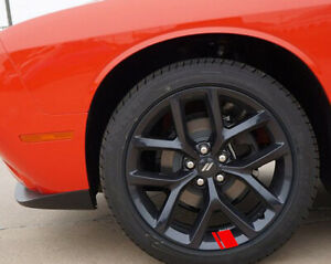 6x Wheel Rim Stripes Hash Marks Charger Challenger Racing Redline Decal Sticker